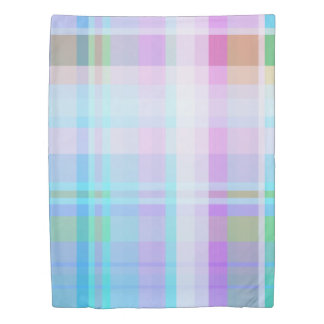 Colorful Overlapping Stripes Pinks Purples Pastels Duvet Cover
