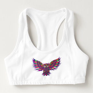 Colorful owl Animal Sports Bra