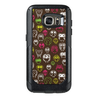 Colorful owl doodle background pattern OtterBox samsung galaxy s7 case