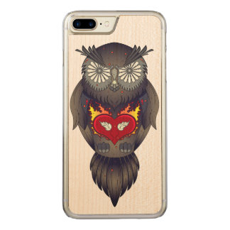 Colorful Owl Illustration Carved iPhone 8 Plus/7 Plus Case