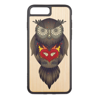 Colorful Owl Illustration Carved iPhone 8 Plus/7 Plus Case