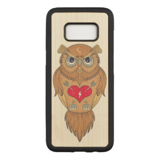 Colorful Owl Illustration Carved Samsung Galaxy S8 Case