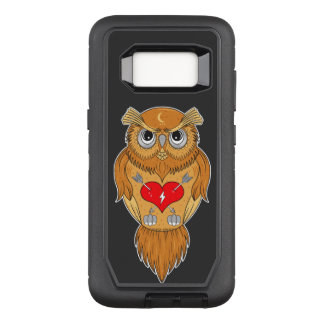 Colorful Owl Illustration OtterBox Defender Samsung Galaxy S8 Case