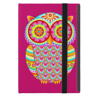 Colorful Owl iPad Mini Case with Kickstand