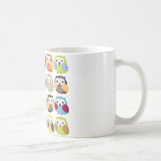 Colorful Owl Pattern Coffee Mug