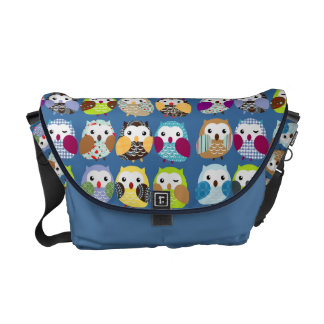 Colorful Owl Pattern Messenger Bag