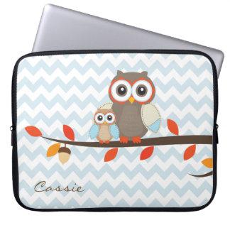 Colorful Owls Laptop Case