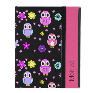 Colorful Owls Personalized iPad Folio Case