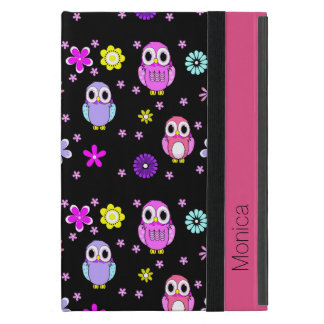 Colorful Owls Personalized iPad Mini Folio Case Cases For iPad Mini