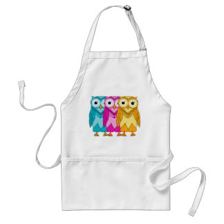 Colorful Owls Standard Apron