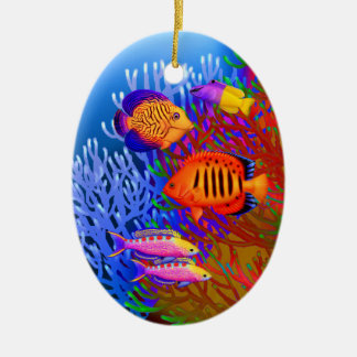 Colorful Pacific Reef Fish Ornament