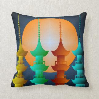 Colorful Pagoda Throw Pillow