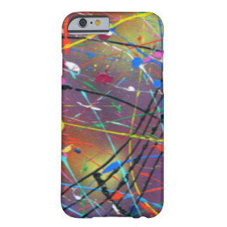 Colorful Paint Drizzle Drops Barely There iPhone 6 Case