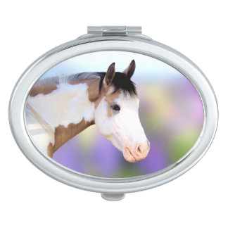 Colorful Paint Horse Compact Mirror