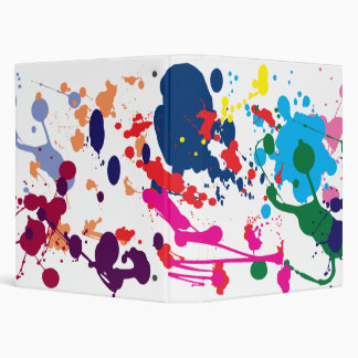 COLORFUL PAINT SPLATTER BINDER