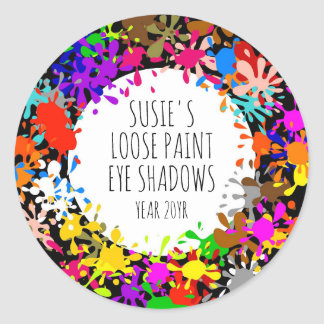 Colorful Paint Splatter DIY Crafters Classic Round Sticker