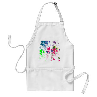 Colorful paint splatter standard apron