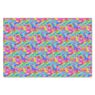 Colorful paint stains tissue paper