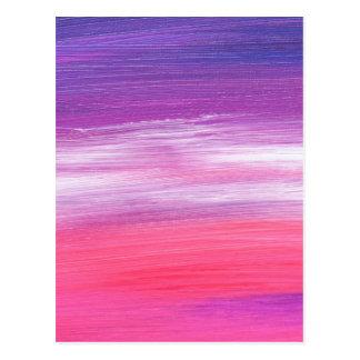 Colorful paint stripes postcard