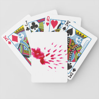 Colorful Paint Stroke pink Bicycle Playing Cards