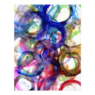 Colorful Paint Strokes 2 Custom Letterhead