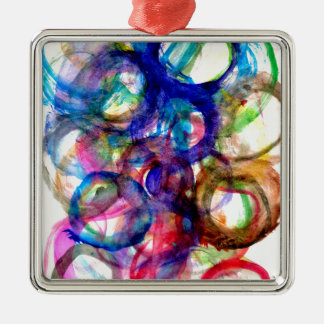 Colorful Paint Strokes 2 Metal Ornament