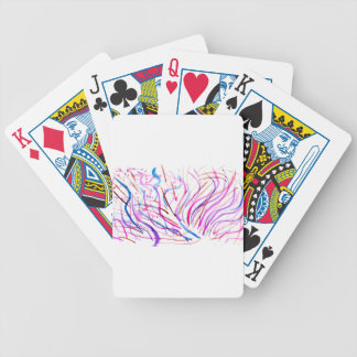 Colorful Paint Strokes 4 Bicycle Playing Cards