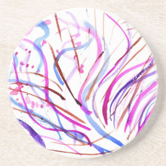 Colorful Paint Strokes 4 Coaster