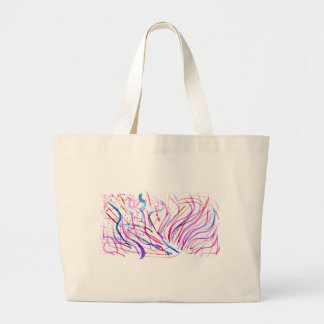 Colorful Paint Strokes 4 Large Tote Bag