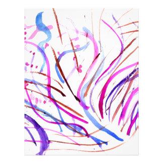 Colorful Paint Strokes 4 Letterhead Design