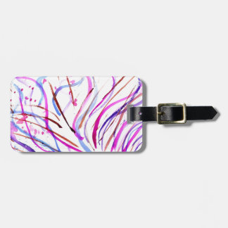 Colorful Paint Strokes 4 Luggage Tag