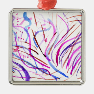 Colorful Paint Strokes 4 Metal Ornament
