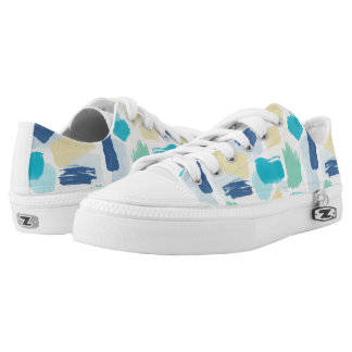 Colorful Paint Strokes Low-Top Sneakers