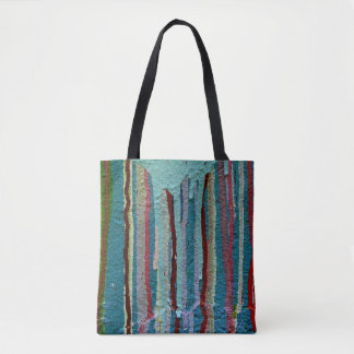 Colorful paint tote. tote bag