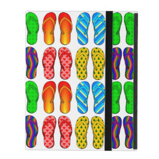 Colorful Pairs of Flip Flop Summer Sandals Pattern iPad Folio Case