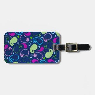 Colorful Paisley Bag Tag