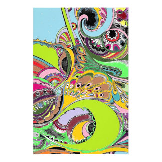 Colorful Paisley Coloring Book Design Custom Stationery