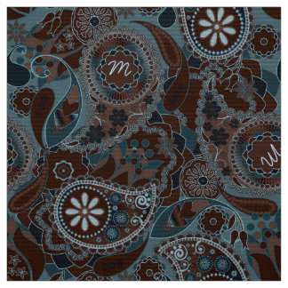 Colorful Paisley Monogram Brown CPM Fabric