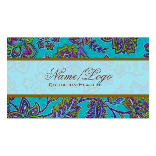 Colorful Paisley Pattern 4 Business Card Templates