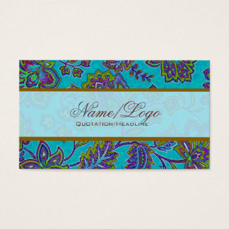 Colorful Paisley Pattern 4 Business Card