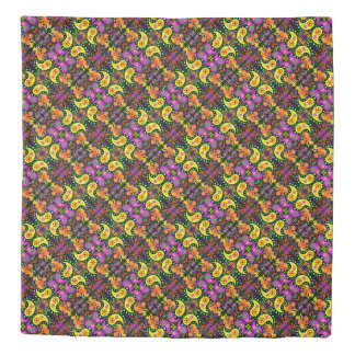 Colorful Paisley Pattern Duvet Cover