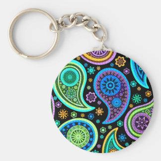 Colorful Paisley Pattern Keychain
