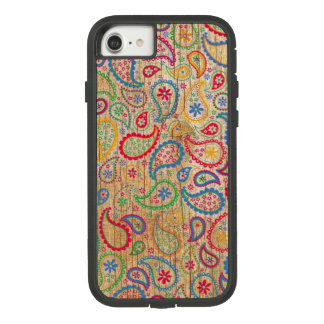 Colorful paisley pattern on weedon pattern Case-Mate tough extreme iPhone 8/7 case