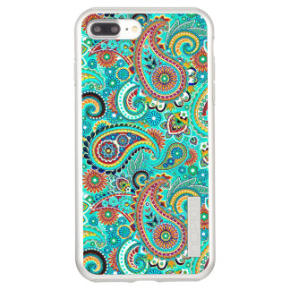 Colorful Paisley Predominantly Turquoise Incipio DualPro Shine iPhone 8 Plus/7 Plus Case
