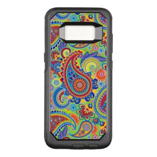 Colorful Paisley Seamless Pattern OtterBox Commuter Samsung Galaxy S8 Case