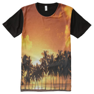 Colorful Palm Tree Sunset T-Shirt