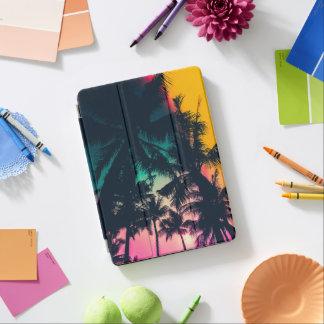 Colorful Palm Trees Silhouette iPad Air Case iPad Air Cover