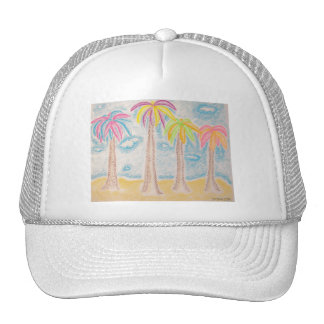 Colorful Palms-hat Trucker Hat