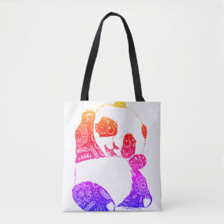 Colorful Panda Tote Bag