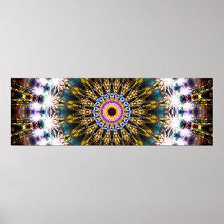Colorful Panoramic Mandala Poster